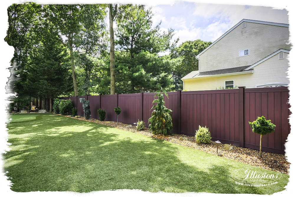 Mahogany PVC Vinyl Illusions Privacy Fence